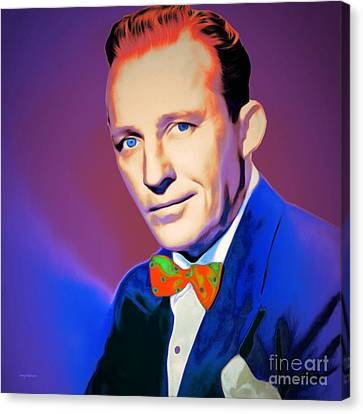 Bing Crosby 20151226 V2 Square Canvas Print by Wingsdomain Art and Photography
