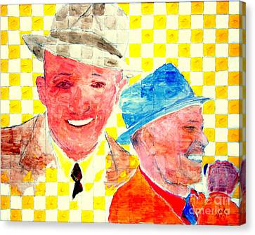 Bing Crosby And Frank Sinatra 1 Canvas Print by Richard W Linford