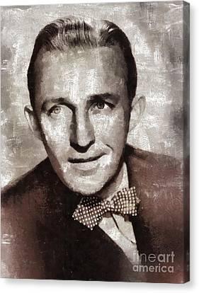 Bing Crosby By Mary Bassett Canvas Print