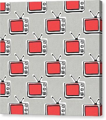 Binge Watching- Art By Linda Woods Canvas Print by Linda Woods