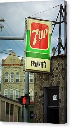Canteen Canvas Print - Binghamton New York - Frankie's Tavern by Frank Romeo
