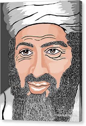 Terrorist Canvas Print - Binladen by Richard Heyman