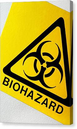 Biohazard Symbol Canvas Print by Tim Vernon, Nhs Trust