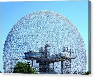 Buckminster Fuller Canvas Print - Biosphere 1 by Randall Weidner