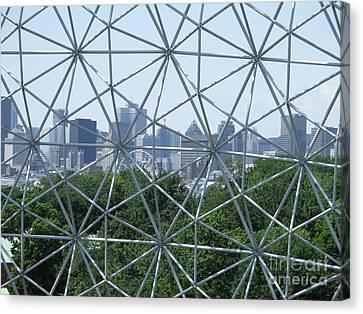 Buckminster Fuller Canvas Print - Biosphere 10 by Randall Weidner