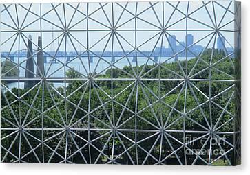 Buckminster Fuller Canvas Print - Biosphere 11 by Randall Weidner