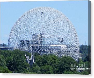 Buckminster Fuller Canvas Print - Biosphere 13 by Randall Weidner