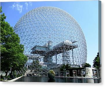 Buckminster Fuller Canvas Print - Biosphere 2 by Randall Weidner