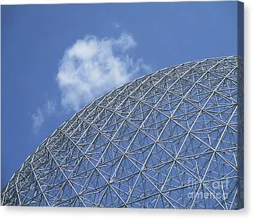 Buckminster Fuller Canvas Print - Biosphere 4 by Randall Weidner