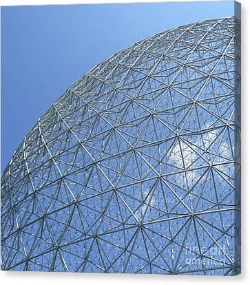 Buckminster Fuller Canvas Print - Biosphere 5 by Randall Weidner