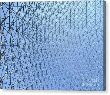 Buckminster Fuller Canvas Print - Biosphere 6 by Randall Weidner