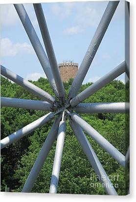 Buckminster Fuller Canvas Print - Biosphere 8 by Randall Weidner