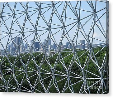 Buckminster Fuller Canvas Print - Biosphere 9 by Randall Weidner
