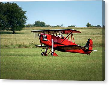 Canvas Print - Biplane On The Ground by James Barber
