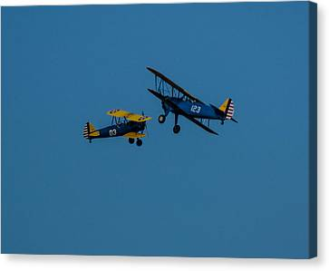 Biplanes Near Collision 5x7 Canvas Print
