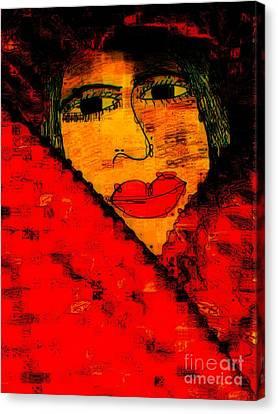Bipolar And A Friend I Love Canvas Print by Fania Simon