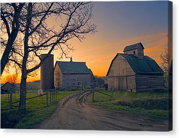 Birch Barn 2 Canvas Print by Bonfire Photography