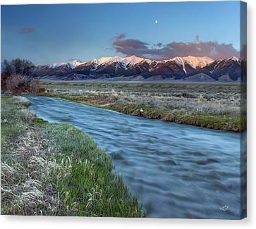 Beautiful Creek Canvas Print - Birch Creek by Leland D Howard