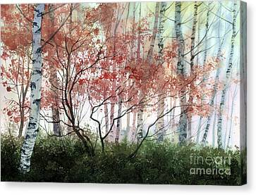 Birch Forest Canvas Print by Sergey Zhiboedov