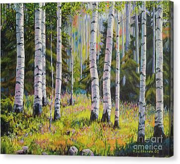 Birch Grove Canvas Print by Veikko Suikkanen