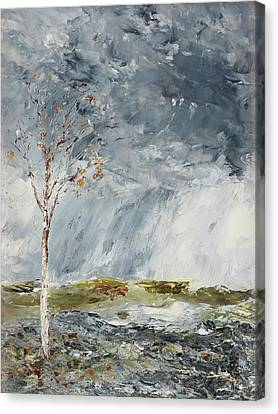 Birch In Autumn By August Strindberg 1902 Canvas Print