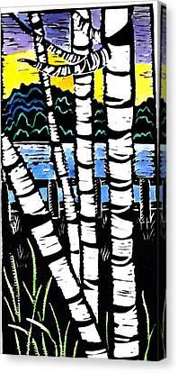 Birch Lake Canvas Print by Jane Croteau