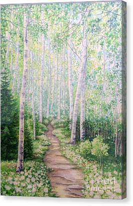 Birch Path Canvas Print