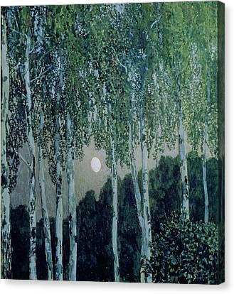 Birch Trees Canvas Print by Aleksandr Jakovlevic Golovin