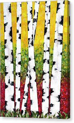 Birch Forest Trees Canvas Print by Christina Rollo