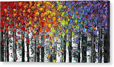 Birch Trees Aspen Landscape Canvas Print