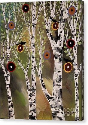 Birches 1 Canvas Print by Karla Gerard