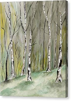 Birches Before Spring Canvas Print