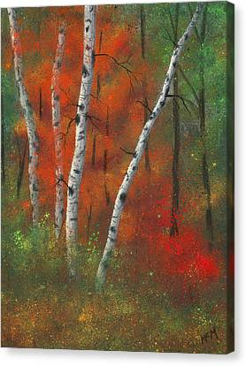 Birches II Canvas Print by Garry McMichael