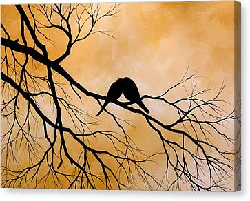 Bird Art Lost Without You By Amy Giacomelli Canvas Print by Amy Giacomelli