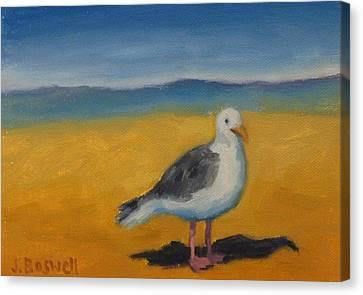 Bird At The Beach Canvas Print