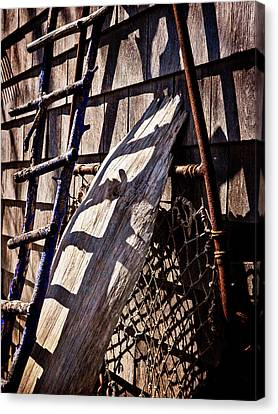 Bird Barn Details Canvas Print by Frank Winters