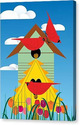 Bird Condo Canvas Print