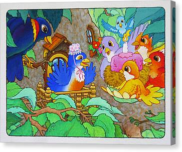 Bird-day Canvas Print by Terry Anderson