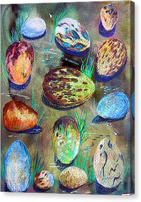 Sphere Canvas Print - Bird Eggs by Mindy Newman