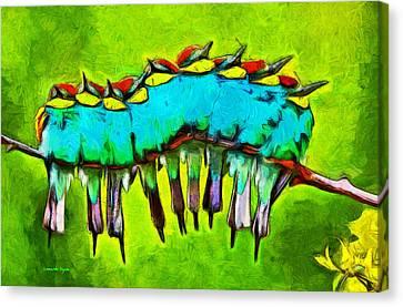Symbol Canvas Print - Bird Family - Da by Leonardo Digenio