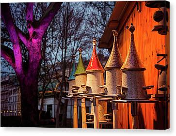 Bird Feeders At Karlsplatz Christmas Market Vienna  Canvas Print by Carol Japp