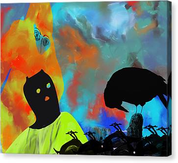 Bird Flu Canvas Print by Ann Tracy