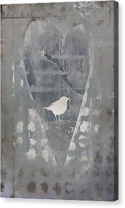 Bird In Heart Canvas Print by Carol Leigh