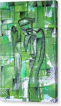 Bird Man Canvas Print by Jera Sky