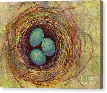 Bird Nest Canvas Print by Hailey E Herrera