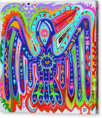Bird Of Paradise Canvas Print by Ed Tajchman
