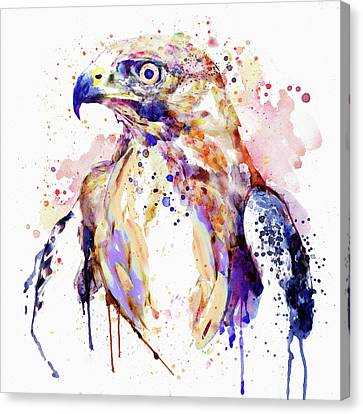 Colorful Paints Canvas Print - Bird Of Prey  by Marian Voicu