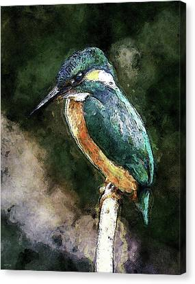 Bird On A Branch Canvas Print by Phil Perkins