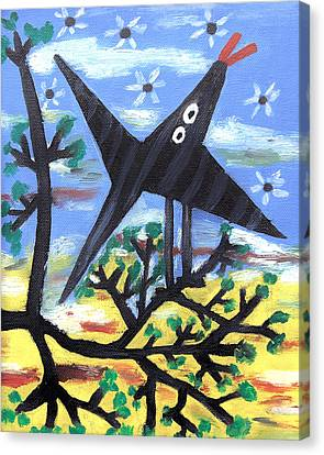 Bird On A Tree After Picasso Canvas Print by Alexandra Jordankova