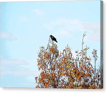 Bird On Tree Canvas Print